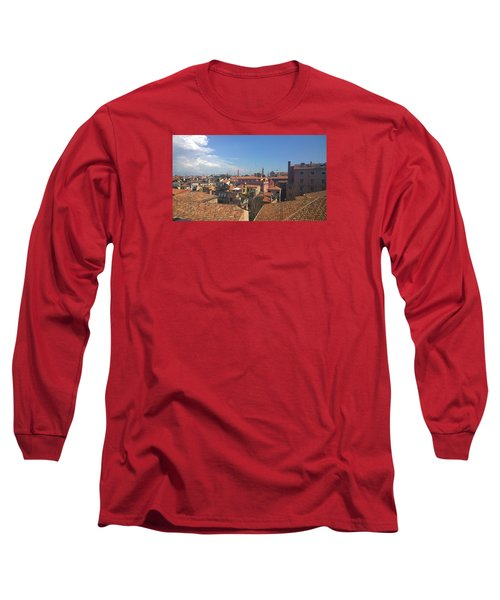 Long Sleeve T-Shirt featuring the photograph Terracotta Rooftops by Anne Kotan