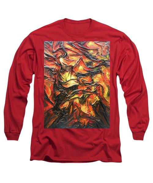 Texture Of Fire Long Sleeve T-Shirt
