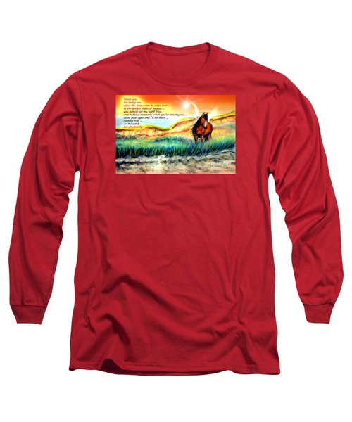 Thank You For Loving Me Long Sleeve T-Shirt