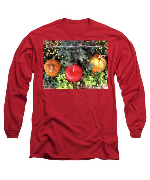 Thanksgiving Long Sleeve T-Shirt by Russell Keating