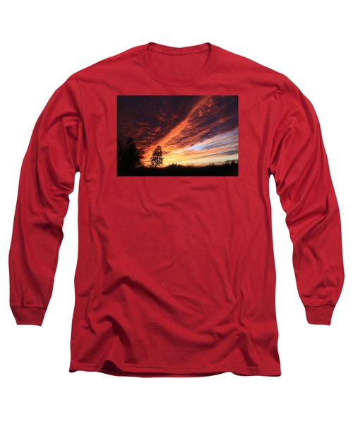 Thanksgiving Sunset Long Sleeve T-Shirt by Gary Kaylor