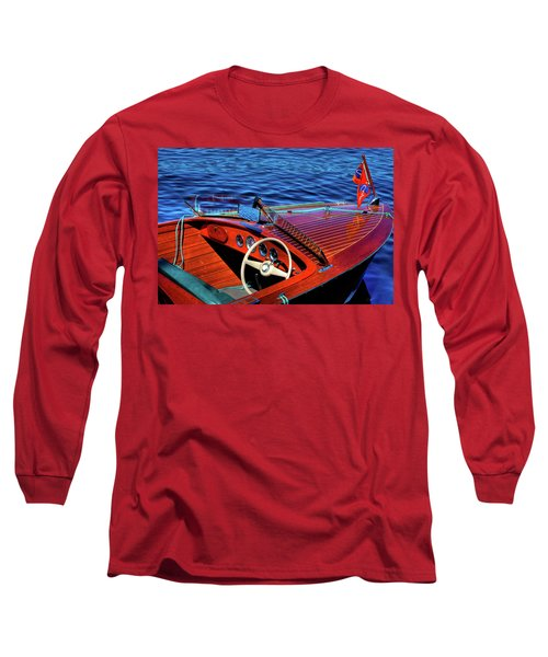The 1958 Chris Craft Long Sleeve T-Shirt by David Patterson