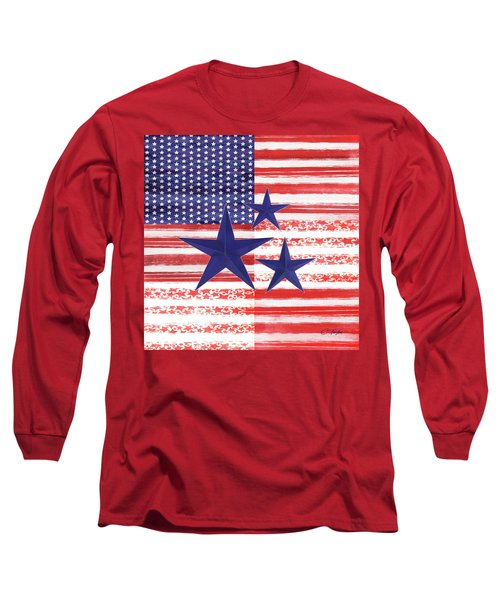 Long Sleeve T-Shirt featuring the photograph The Americana Flag by Colleen Taylor