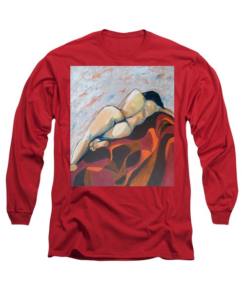 The Anguish Of Love Long Sleeve T-Shirt by Esther Newman-Cohen