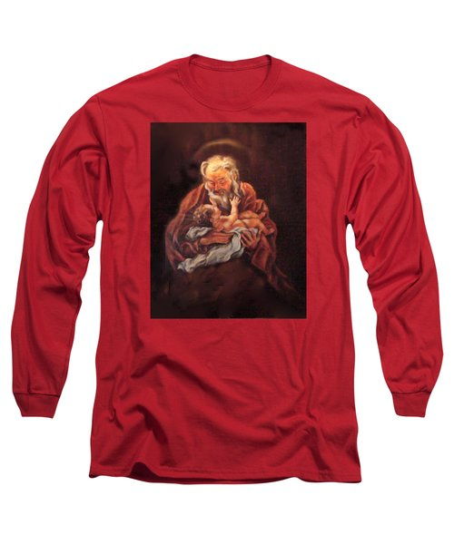 Long Sleeve T-Shirt featuring the painting The Baby Jesus - A Study by Donna Tucker