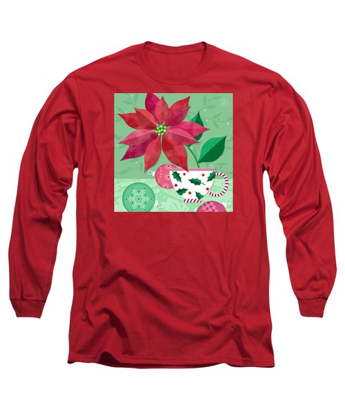 The Christmas Poinsettia Long Sleeve T-Shirt