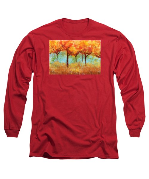 Long Sleeve T-Shirt featuring the painting The Colors Of New Hampshire by Patricia Arroyo