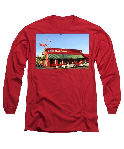 The Crab Cooker In Balboa Park Newport Beach California Long Sleeve T-Shirt