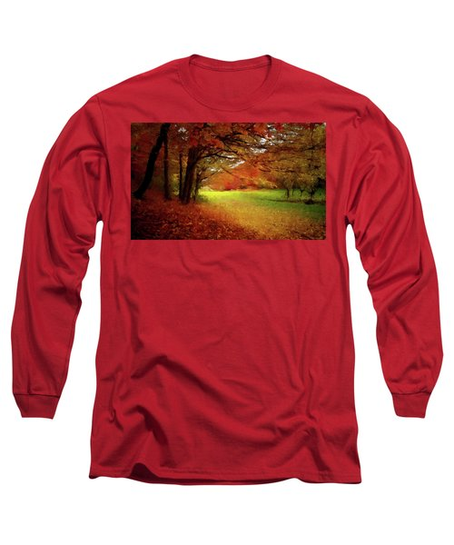Long Sleeve T-Shirt featuring the painting The Crimson Season P D P by David Dehner