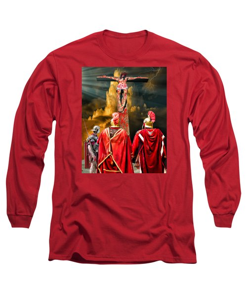The Crucifixion Long Sleeve T-Shirt by Mark Allen