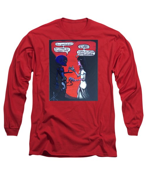 Long Sleeve T-Shirt featuring the painting The Downside Of Time Travel by Similar Alien
