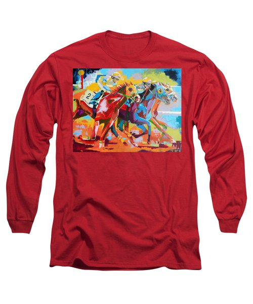 The Finishing Post- Large Work Long Sleeve T-Shirt