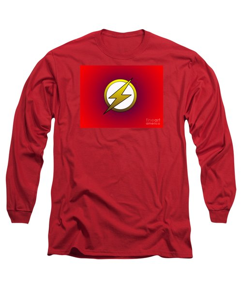 The Flash  Long Sleeve T-Shirt by Justin Moore