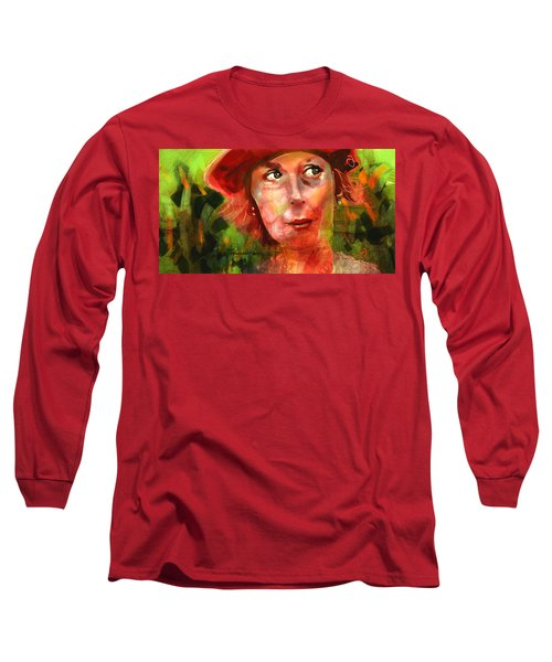 Long Sleeve T-Shirt featuring the painting The Happy Gardener by Jim Vance