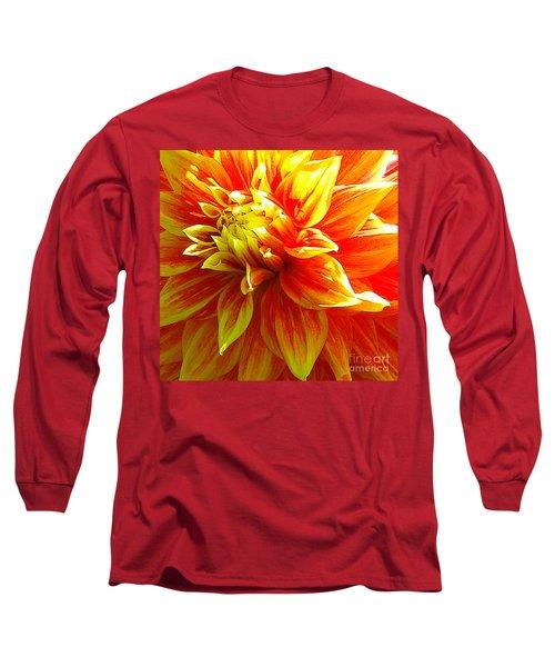 The Heart Of A Dahlia #2 Long Sleeve T-Shirt