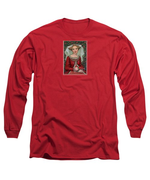 Long Sleeve T-Shirt featuring the painting The Lady Mae   Bas Relief Miniature by Jane Bucci