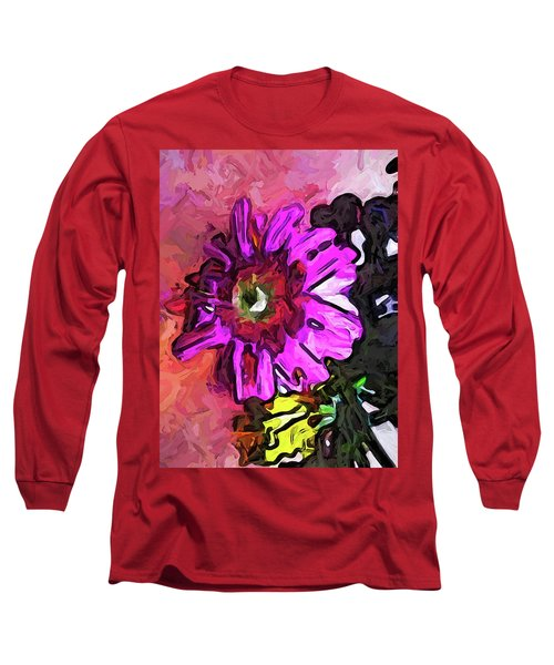 The Lavender Flower Above The Yellow Flower Long Sleeve T-Shirt