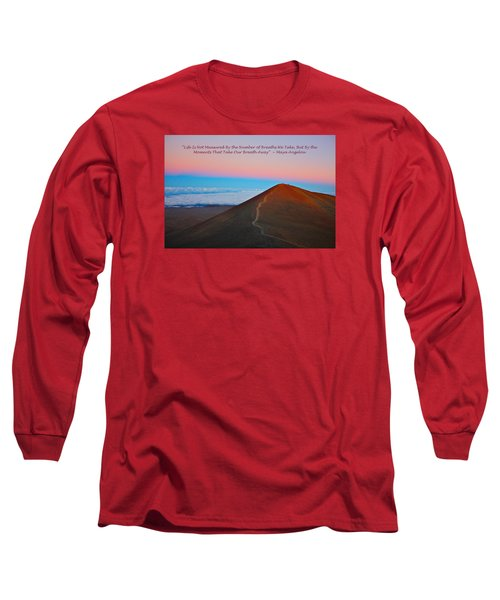 The Moments That Take Our Breath Away Long Sleeve T-Shirt by Venetia Featherstone-Witty
