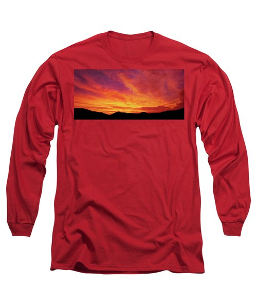 The Morning Sky Ablaze Long Sleeve T-Shirt