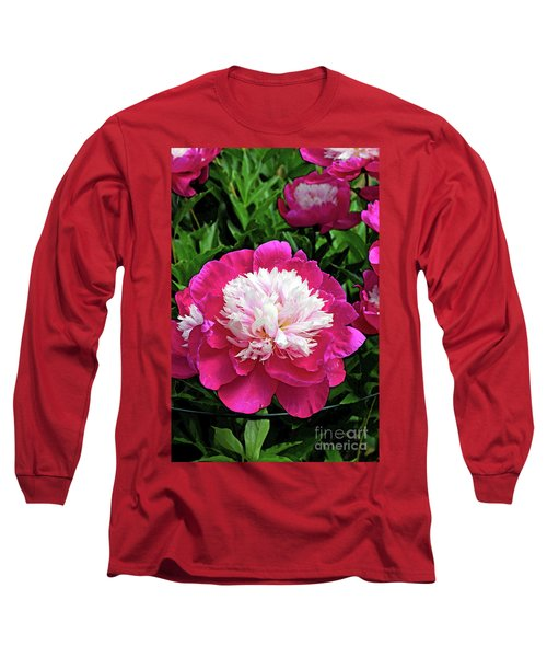 The Most Beautiful Peony Long Sleeve T-Shirt by Eva Kaufman