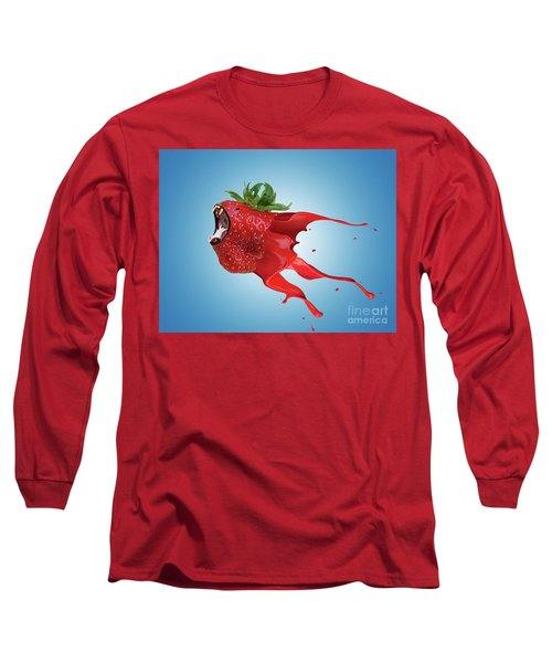 Long Sleeve T-Shirt featuring the photograph The New Gmo Strawberry by Juli Scalzi