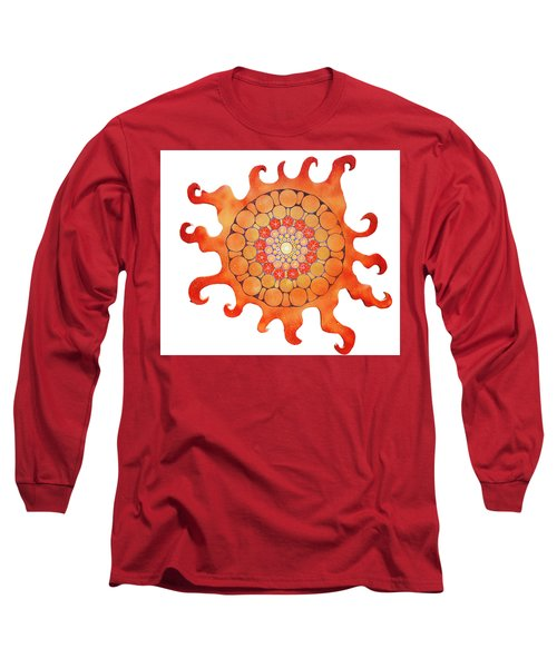 Long Sleeve T-Shirt featuring the painting The New Sun by Patricia Arroyo