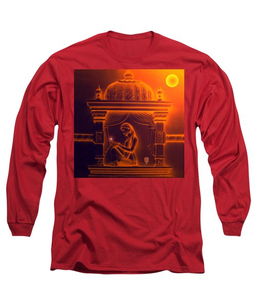 Long Sleeve T-Shirt featuring the digital art The Night Journey by Bliss Of Art