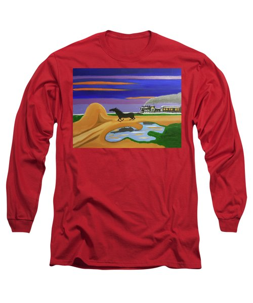 The Night Race Long Sleeve T-Shirt by Margaret Harmon