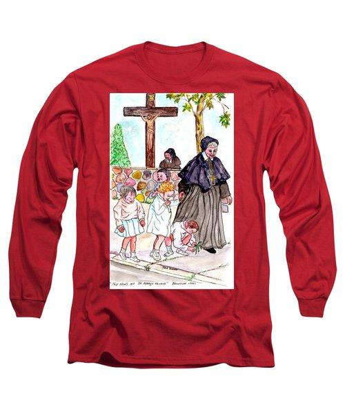 The Nuns Of St Marys Long Sleeve T-Shirt by Philip Bracco