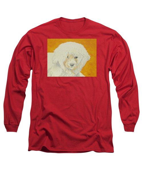 Long Sleeve T-Shirt featuring the painting The Old Poodle by Hilda and Jose Garrancho