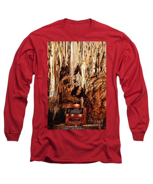 The Organ In The Cavern Long Sleeve T-Shirt by Paul Ward