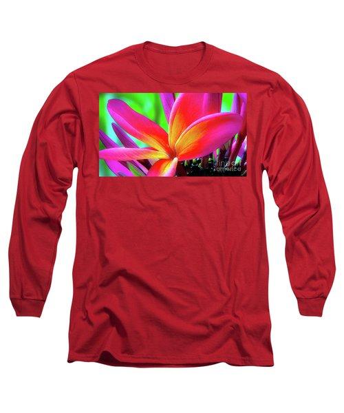 The Plumeria Flower Long Sleeve T-Shirt