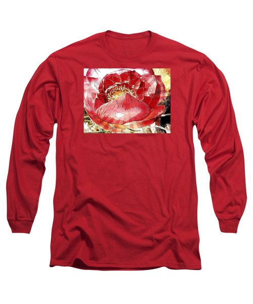 The Red Flower Blooms Long Sleeve T-Shirt