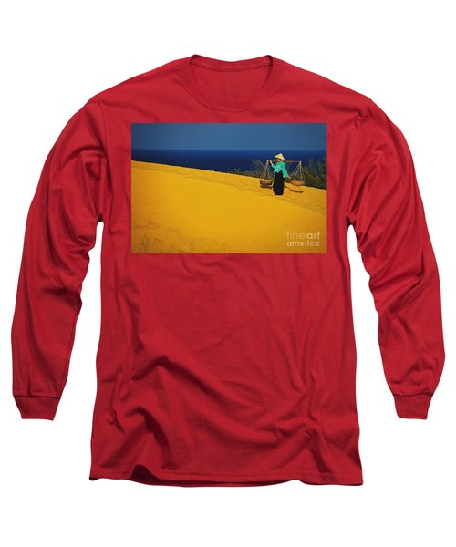 The Red San Dunes Of Mui Ne Vietnam Long Sleeve T-Shirt