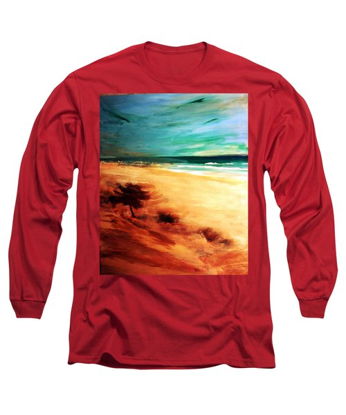 Long Sleeve T-Shirt featuring the painting The Remaining Pine by Winsome Gunning