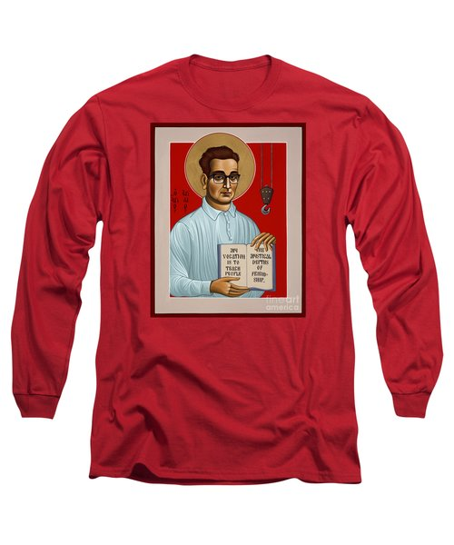 Long Sleeve T-Shirt featuring the painting The Servant Of God Egide Van Broeckhoven Sj 051 by William Hart McNichols