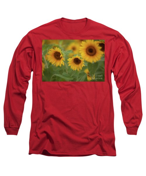 The Sunflowers In The Field Long Sleeve T-Shirt