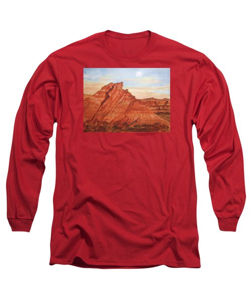 Long Sleeve T-Shirt featuring the painting The Teepees by Ellen Levinson