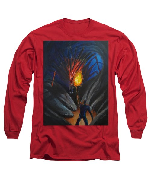 The Thing In The Cave Long Sleeve T-Shirt by Chris Benice