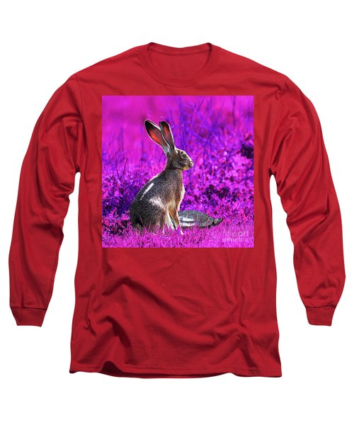 The Tortoise And The Hare . Magenta Square Long Sleeve T-Shirt