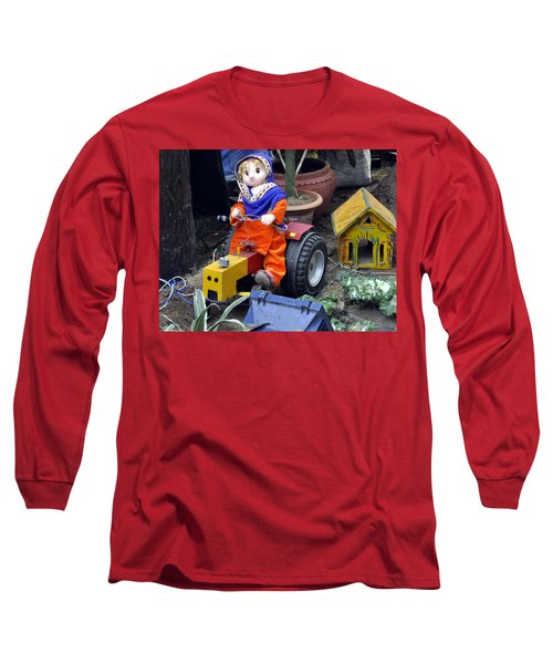 Long Sleeve T-Shirt featuring the photograph The Tractor Driver by Bliss Of Art