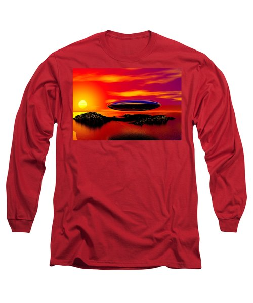 The Visitor Long Sleeve T-Shirt by David Lane