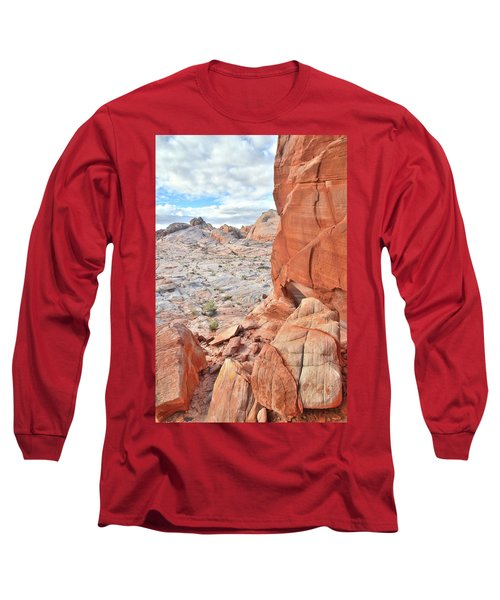 The Wall At Valley Of Fire Long Sleeve T-Shirt by Ray Mathis