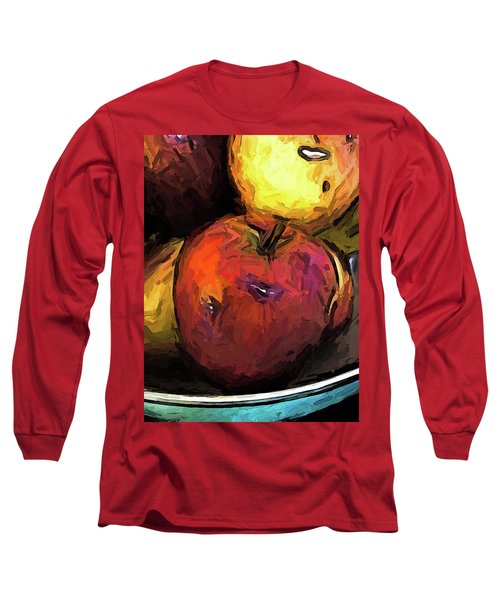 The Wine Apple With The Gold Apples Long Sleeve T-Shirt