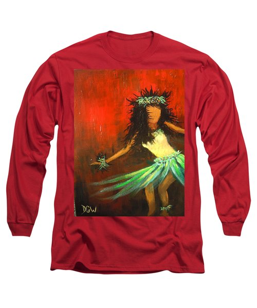 Long Sleeve T-Shirt featuring the painting The Young Dancer by Dan Whittemore