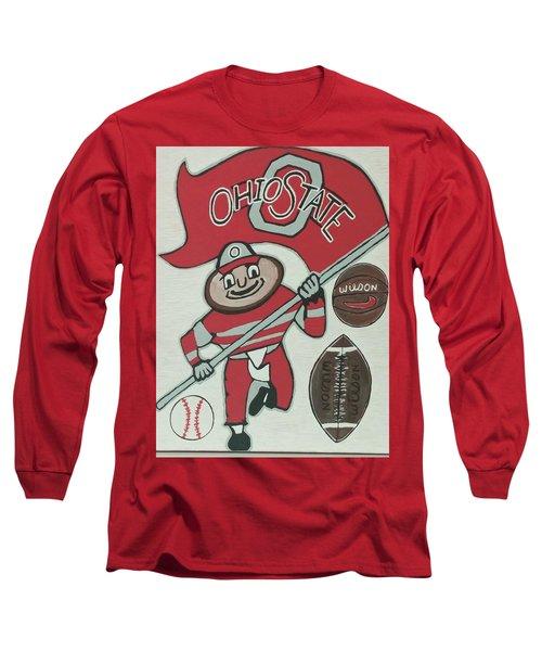 Thee Ohio State Buckeyes Long Sleeve T-Shirt by Jonathon Hansen