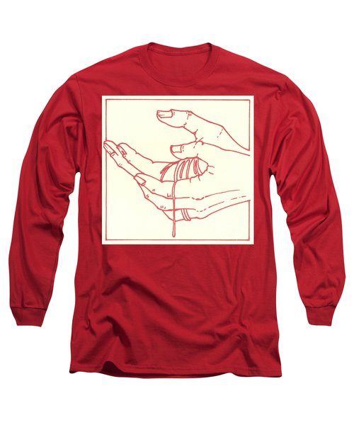 Long Sleeve T-Shirt featuring the drawing Thirteenth Station- Jesus Is Taken Down From The Cross by William Hart McNichols