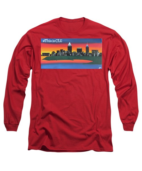 This Is Cle Long Sleeve T-Shirt by Cyrionna The Cyerial Artist