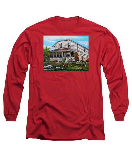 Long Sleeve T-Shirt featuring the painting This Old House 2 by Marilyn  McNish