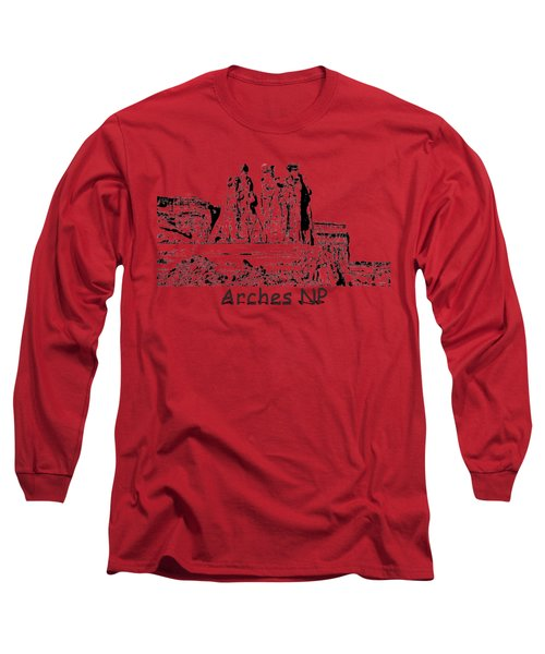 Three Gossips Drawing At Arches Long Sleeve T-Shirt